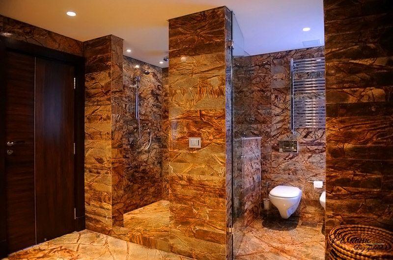Фотография плитки для ванной комнаты из натурального камня