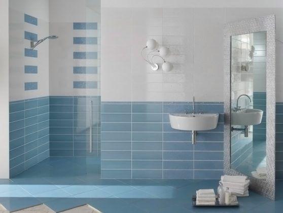 Горизонтально установленная плитка для ванной комнаты: фото и дизайн