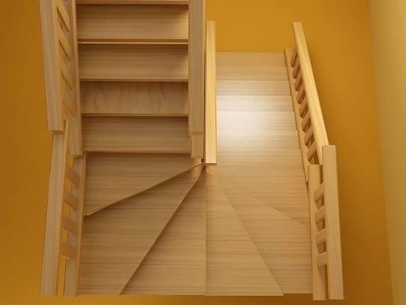 Лестница с поворотом на 180 своими руками 755