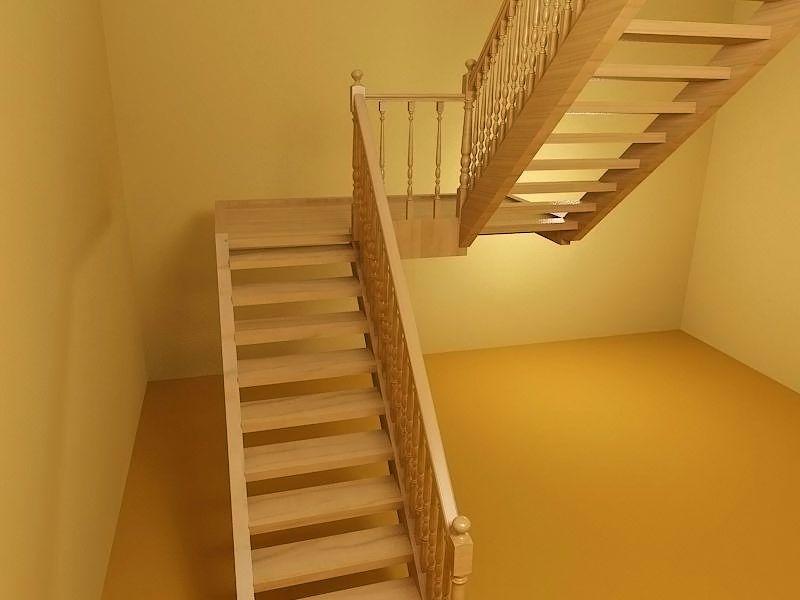 Лестница с поворотом на 180 своими руками 7