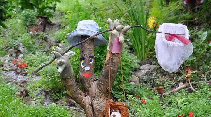 Погибшее дерево не обязательно выкорчевывать. Впрочем, на создание этого уникального образа автор явно не потратил много времени и труда