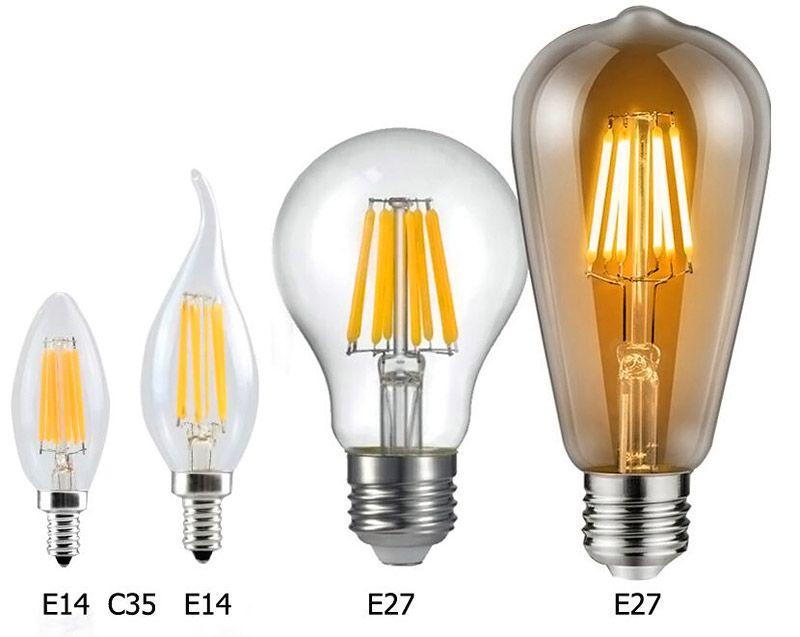 Если приобрести «старинные» светодиодные лампы, интересный внешний вид будет дополнен минимальными расходами в период эксплуатации