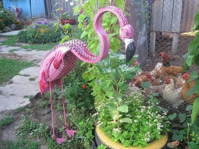 Поделки животных для сада и огорода