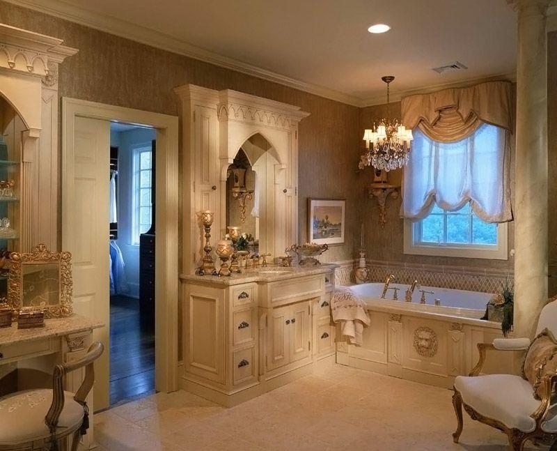 Классическая мебель для ванной комнаты дизайн