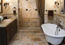 Плитка для ванной комнаты: фото, дизайн
