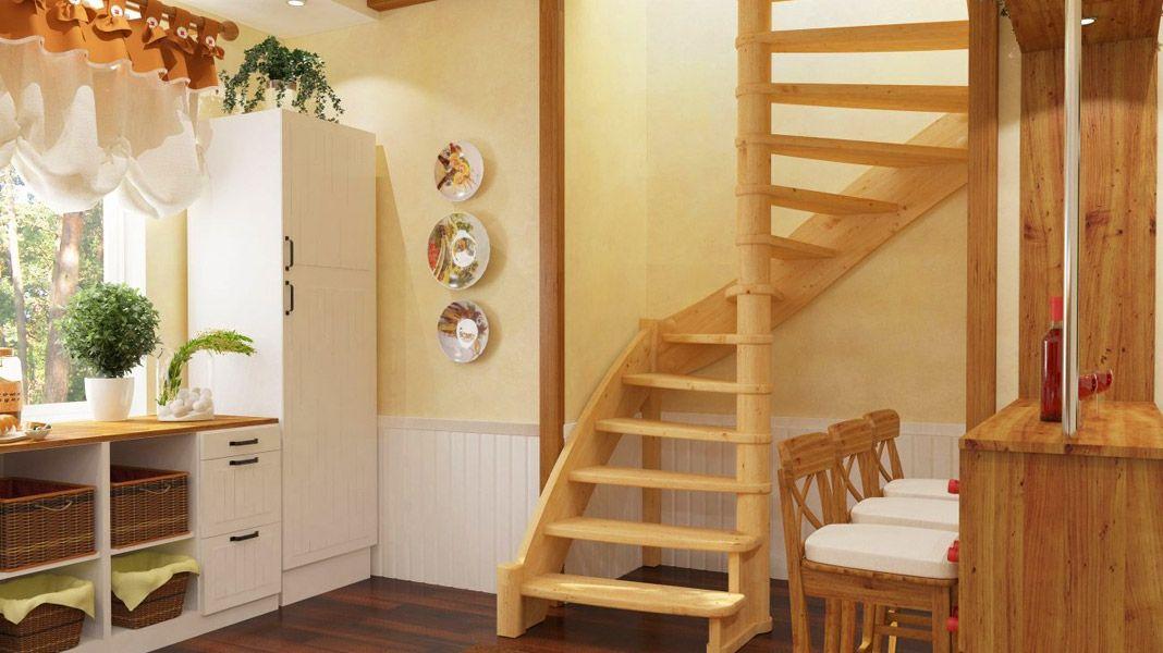 Лестница из дерева на 2 этаж своими руками 29