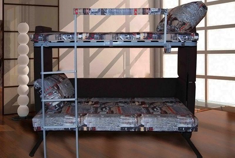 Пример двухъярусного дивана