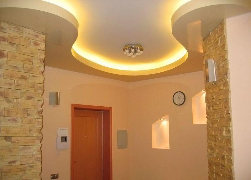 Использование светодиодов на фигурном объёмном потолке