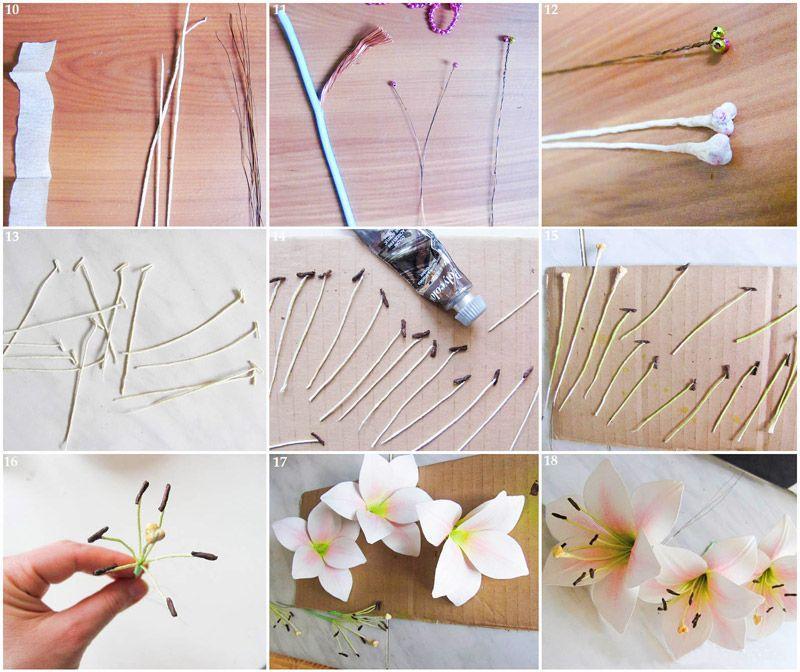 Изготовление тычинок лилии