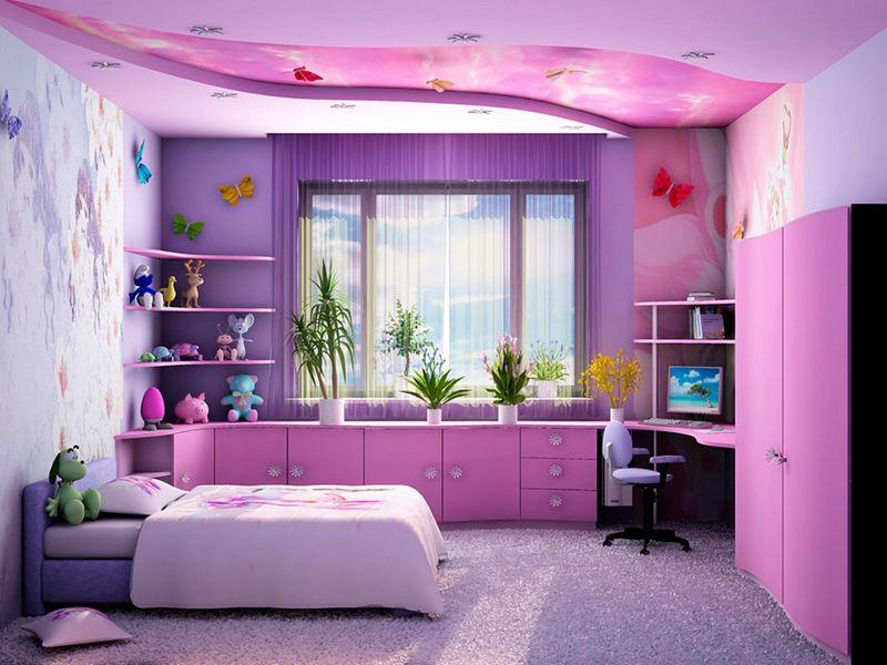Фиолетовый не рекомендуется для использования в детской, так как этот оттенок угнетающе действует на нервную систему
