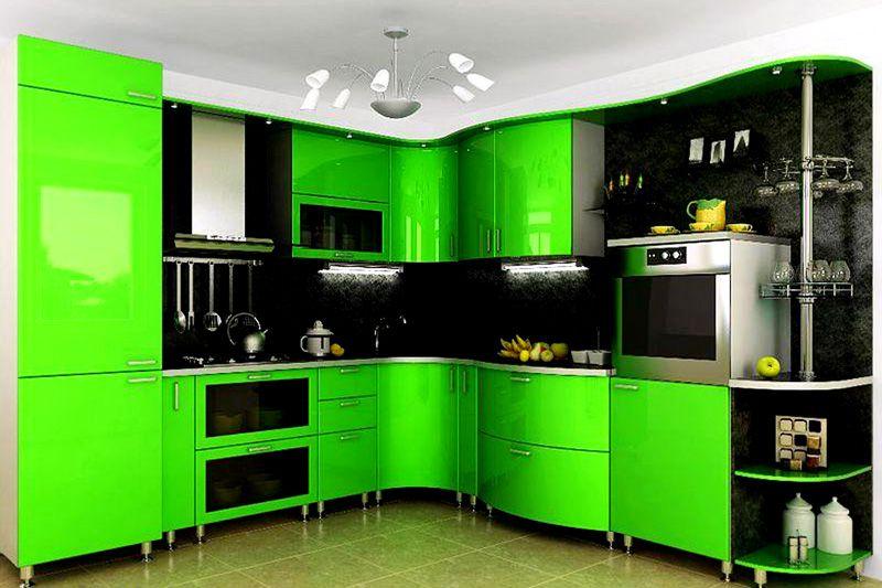 Интерьер в сочных зелёных оттенках