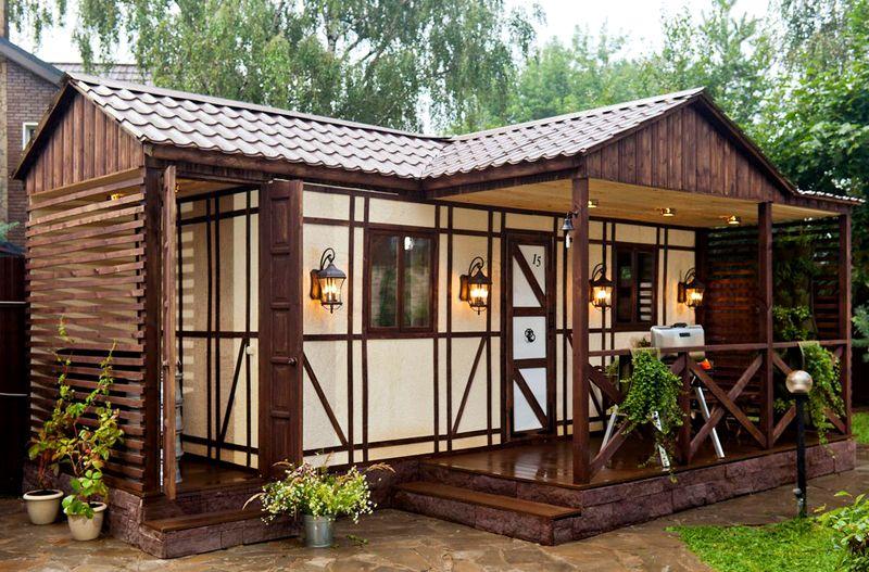 Даже из мини-домика можно создать стильное и удобное решение