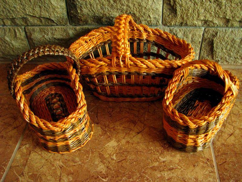 Красивое плетение из газетных трубочек