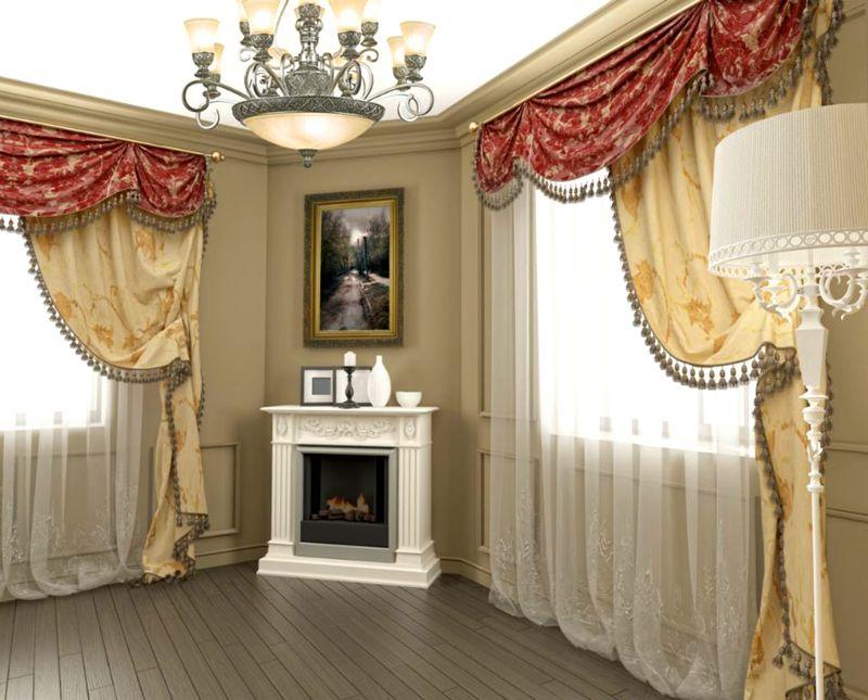 Важно правильно следовать общей стилистике интерьера и в текстильном оформлении