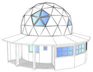 Купольный дом добросфера DS7