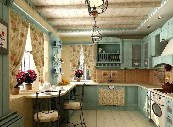 Прованс – милый и уютный декор в светлой цветовой гамме. Состаренная мебель и множество цветов, керамики и плетеных корзин – типичные признаки этого стиля
