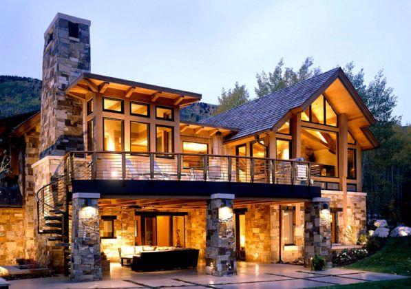 Фасады в стиле кантри