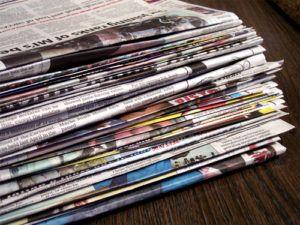 3-11-300x225 Плетение из газетных трубочек для начинающих пошагово: техника плетения, мастер класс, фото. Плетение корзин, шкатулок, коробок из газет для начинающих: схемы, загибы, фото