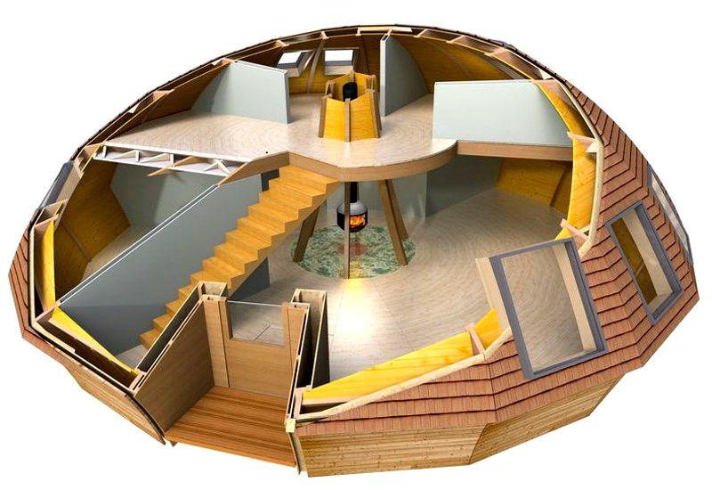 Купольные сооружения могут быть выполнены в несколько этажей