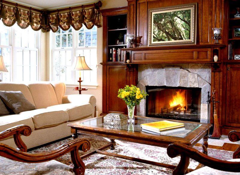 Имитация пламени создаст вечером романтическую обстановку для особо дорогих гостей