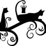 Трафареты (шаблоны) кошек для декора своими руками
