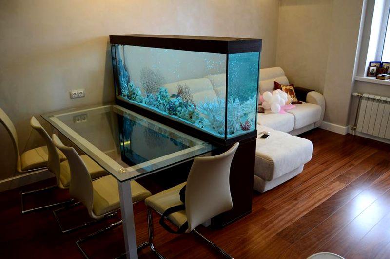 Пример простого разделения пространства при помощи аквариума