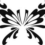 Трафареты (шаблоны) бабочек для декора своими руками