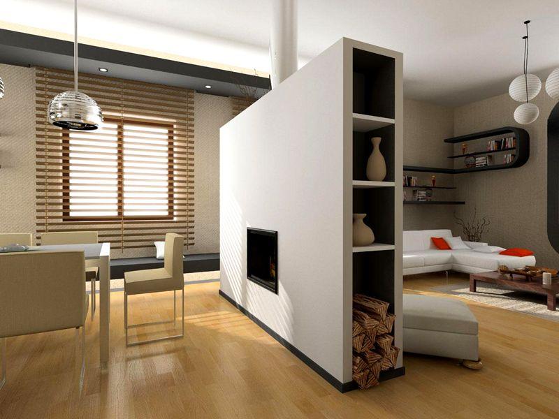 К примеру, разделяя гостиную на зону отдыха и рабочее место, оптимально будет соблюсти пропорции один к трём. При этом большая часть должна располагаться в зоне, где есть оконный проем