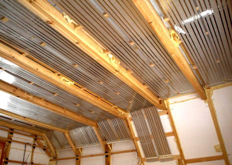 Для полноценного обогрева комнаты устанавливают подобные конструкции