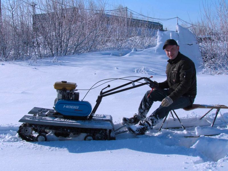 Мотоблок можно использовать зимой не только для уборки снега