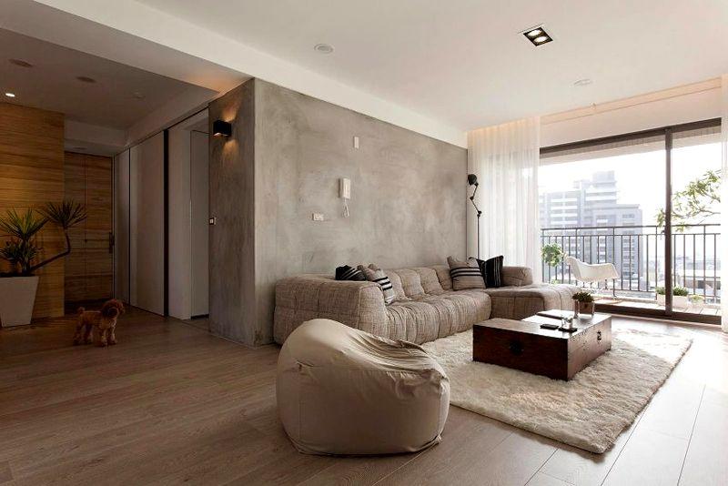 Если прихожая не отделена коридором, используют идентичные материалы для отделки стен