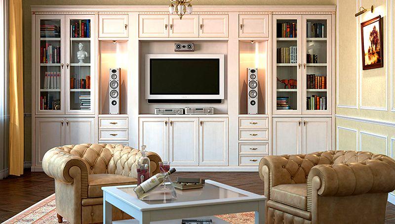 Такая мебель даже в классическом интерьере смотрится очень современно