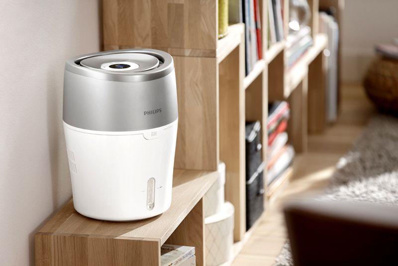 Для поддержания здоровых параметров атмосферы в комнате применяют специализированную технику, увлажнитель