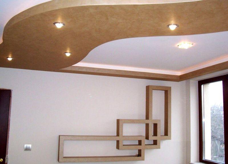 фото потолков и стен из гипсокартона нотки состоят
