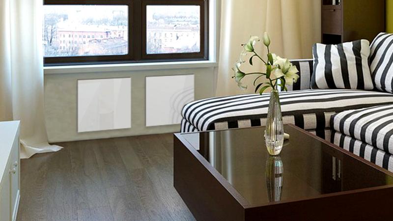 Энергосберегающие конструкции свободно размещаются под окнами. При необходимости их можно переместить