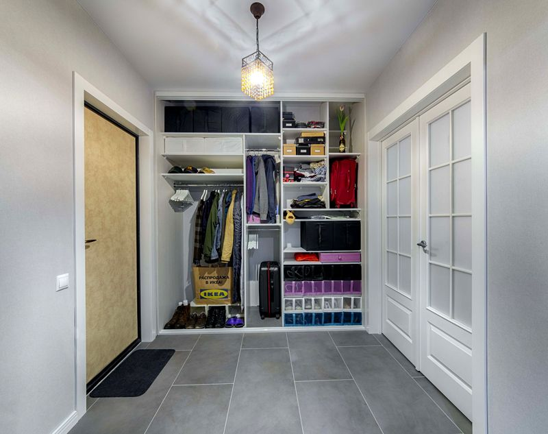 Внутреннее оснащение мебели из стандартных комплектующих деталей «ИКЕА»
