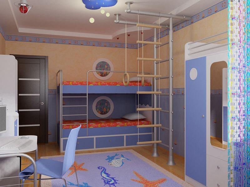 Вариант для просторной комнаты