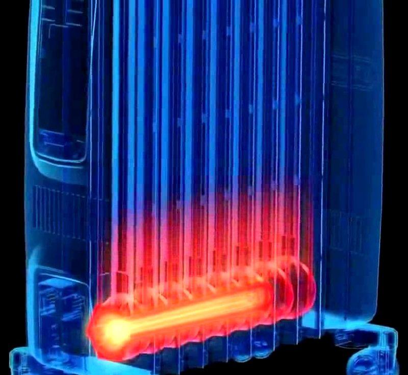 В этой технике нагревательный элемент сначала поднимает температуру масла