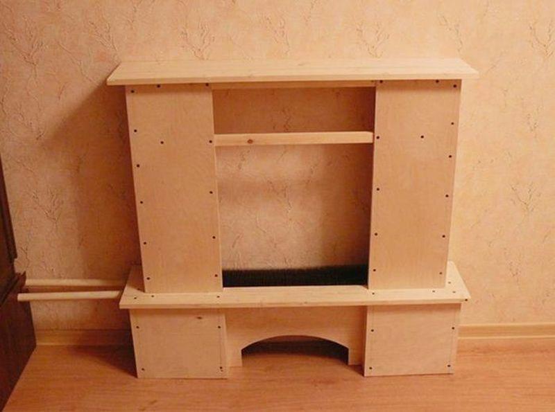 Использование древесно-стружечной плиты для создания фальш-камина