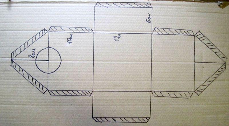 Схема для картонного изделия