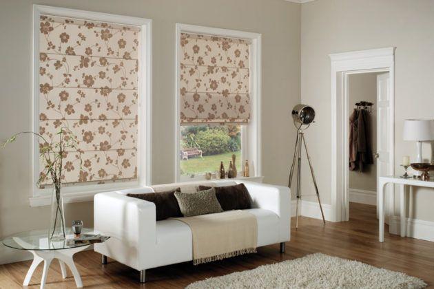 Защита от солнца и любопытных глаз: римские шторы на пластиковые окна. Фото, цена и советы дизайнеров