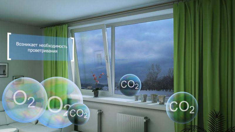Проветривание особенно в прохладную погоду насыщает атмосферу дополнительной влагой