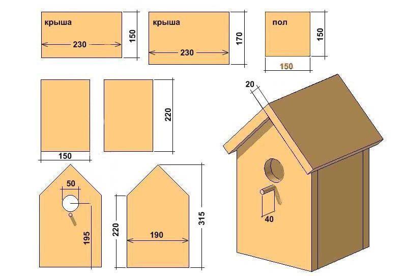 Схема простого изделия. Такое чаще всего выполняется из древесины или фанеры