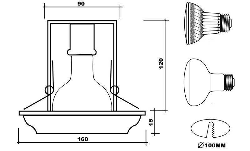 Конструкция точечной лампы