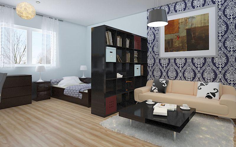 Грамотно подобранная мебель позволит разместить все вещи и еще оставит много свободного пространства