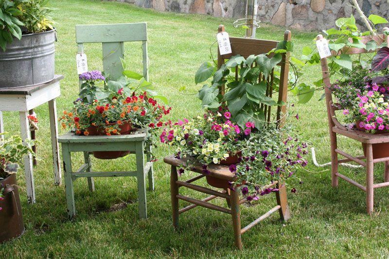Ансамбль из старых стульев