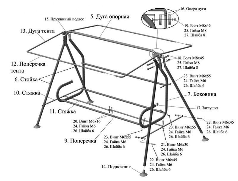 Вариант сборки металлической конструкции