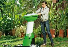 Электрический садовый измельчитель веток