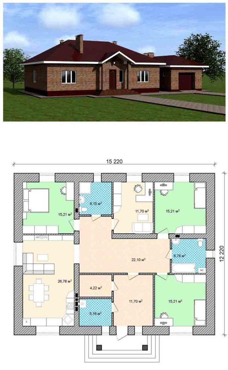был проекты одноэтажных домов фото с планом картинку