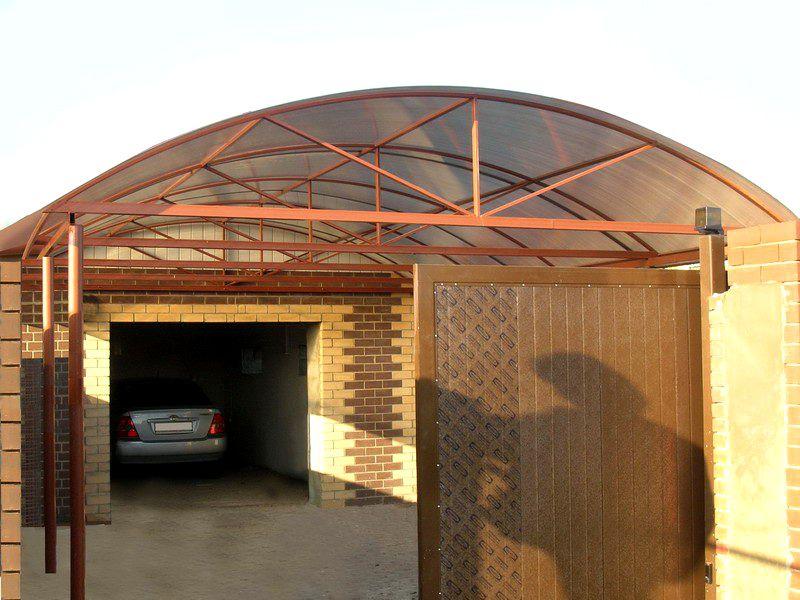 Вариант конструкции перед гаражом